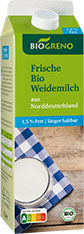 Thumbnail Frische Bio Weidemilch 1,5% Fett